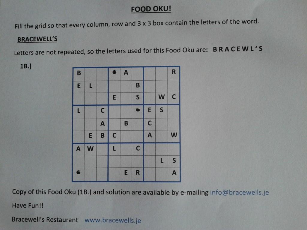 Food Oku Bracewell's