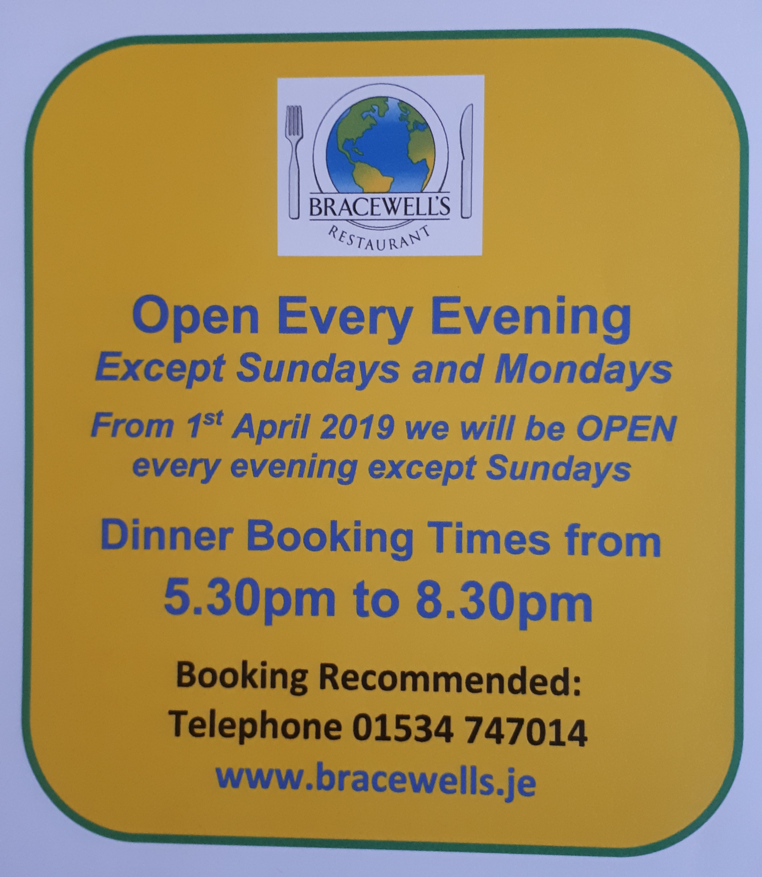 SPRING OPENING TIMES