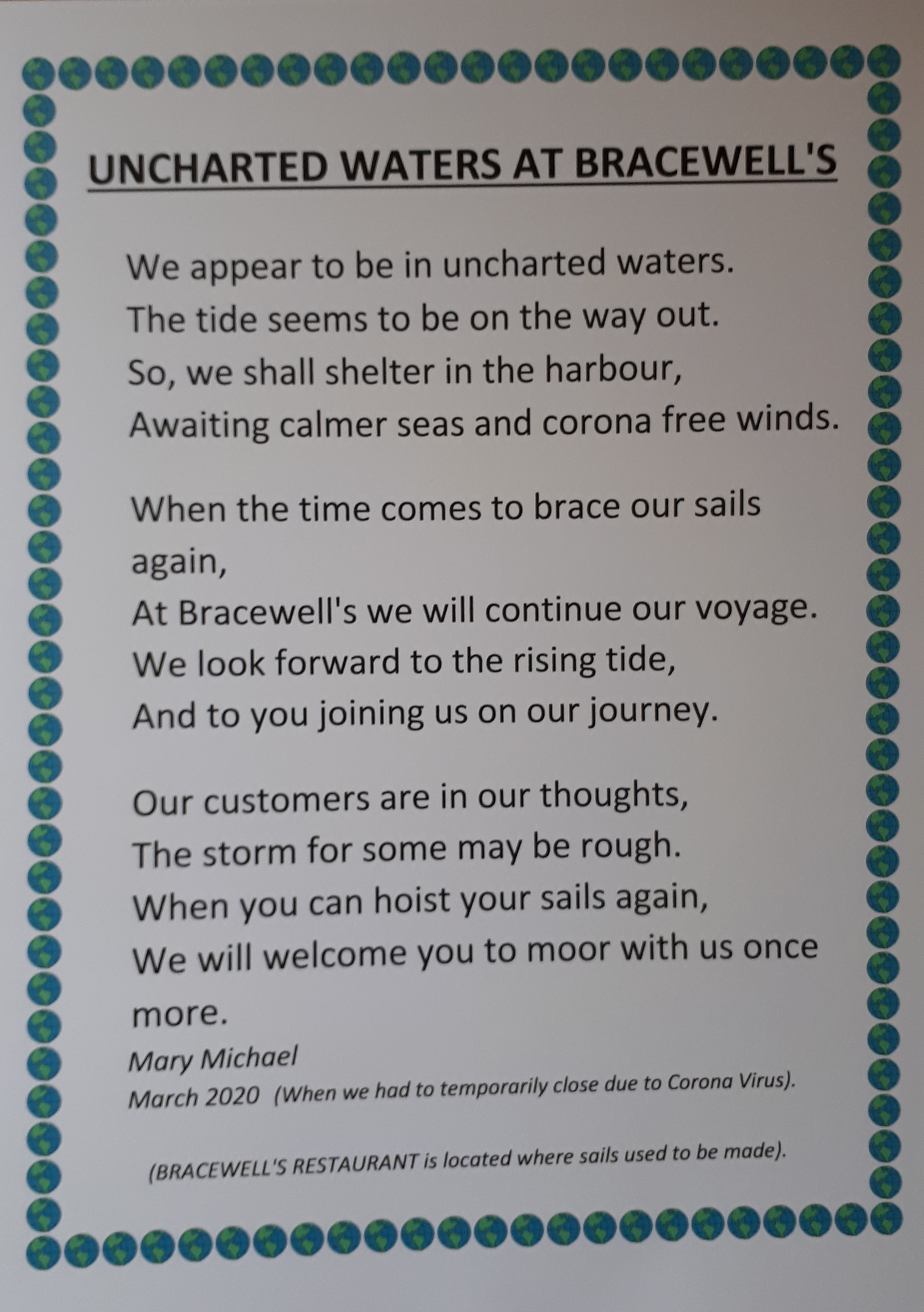 Uncharted Waters at Bracewell's